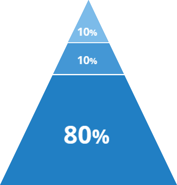 10% 10% 80%
